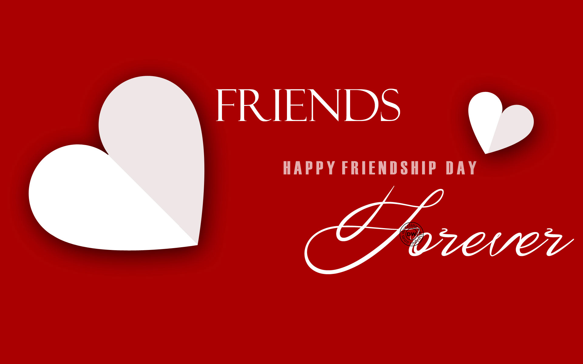 Friends Forever Happy Friendship Day Wallpaper