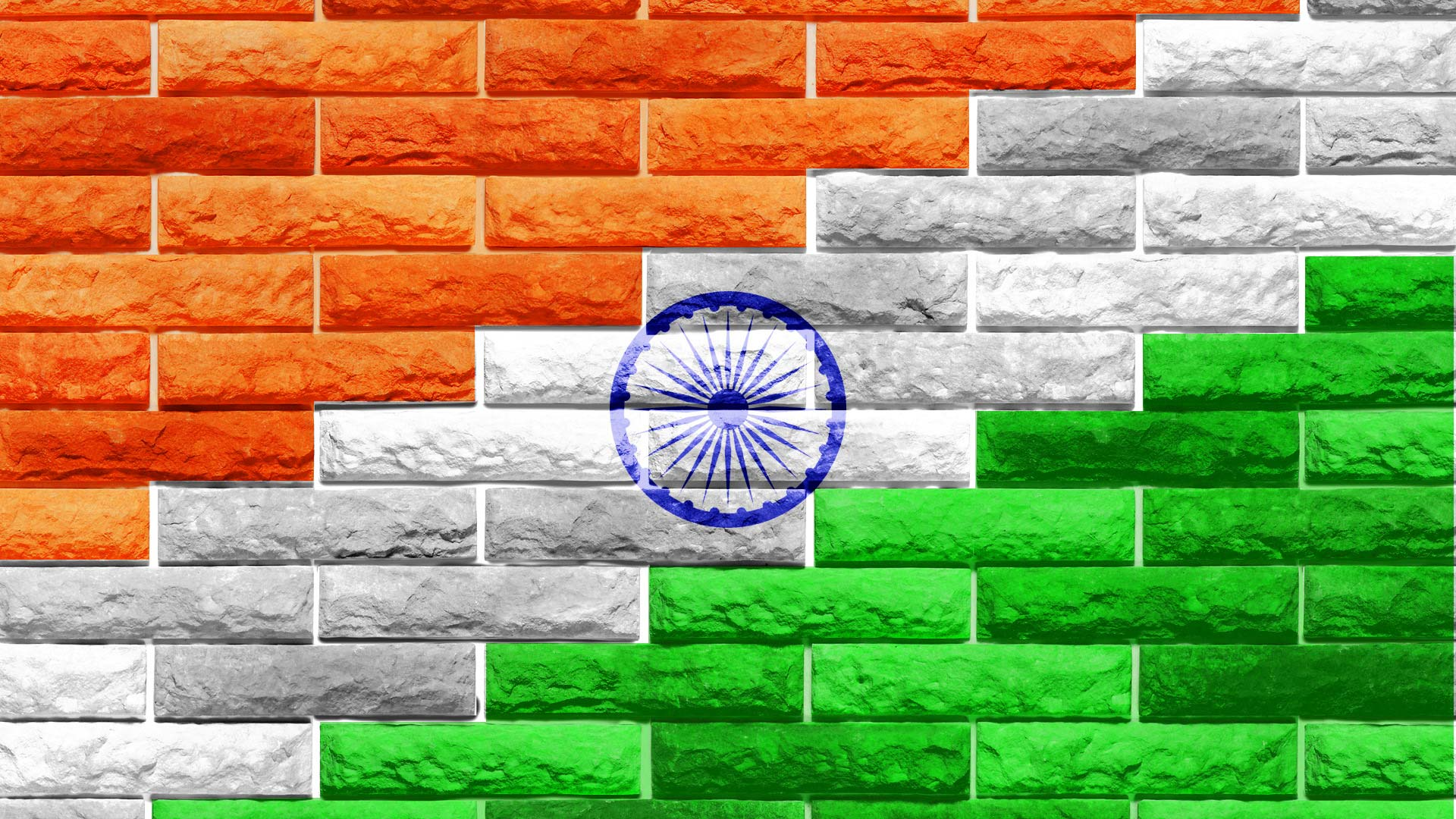 Indian Flag Bricks