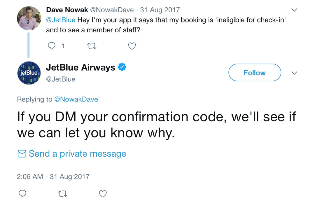 JetBlue Twitter Engagement