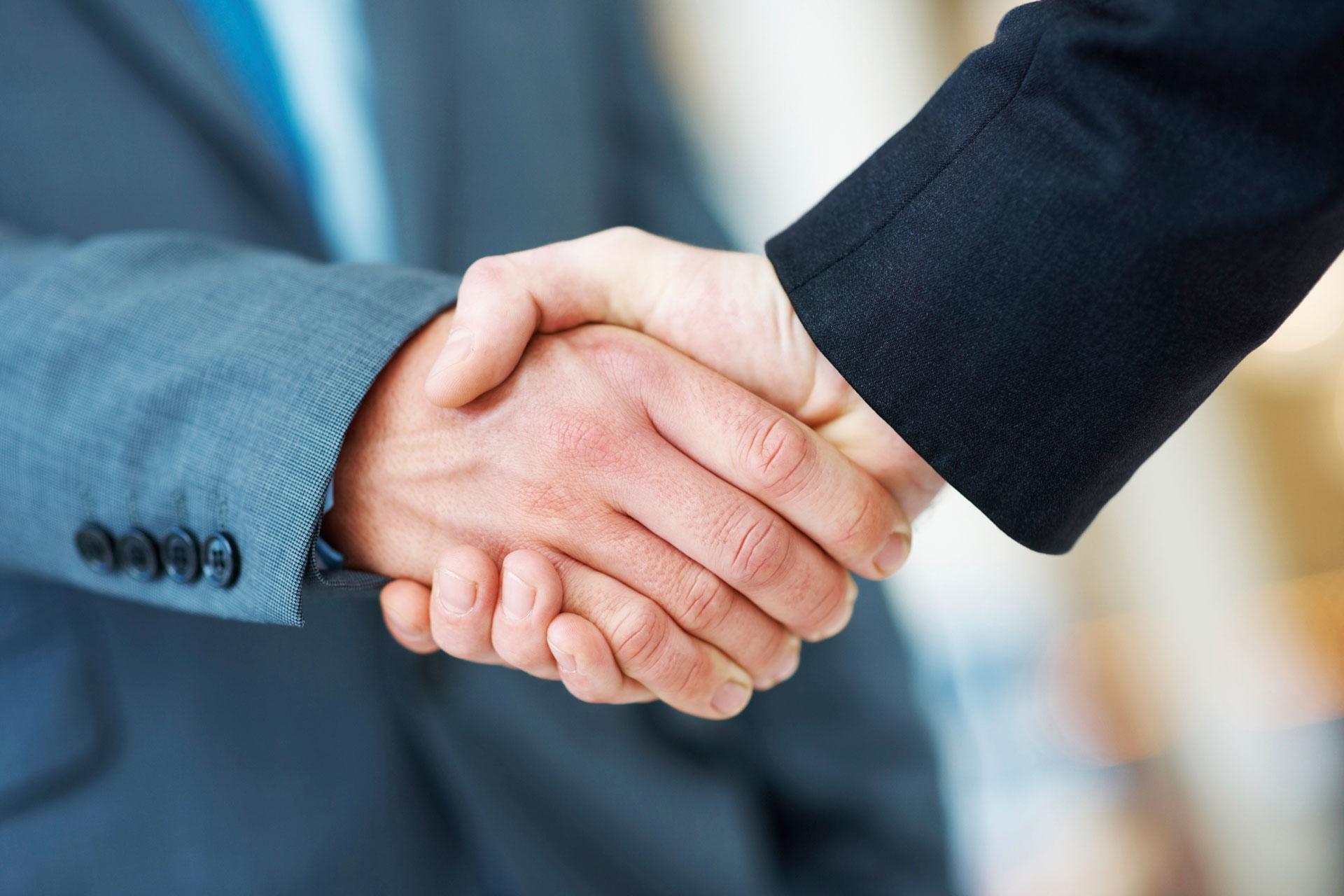 Handshake Deal in Business