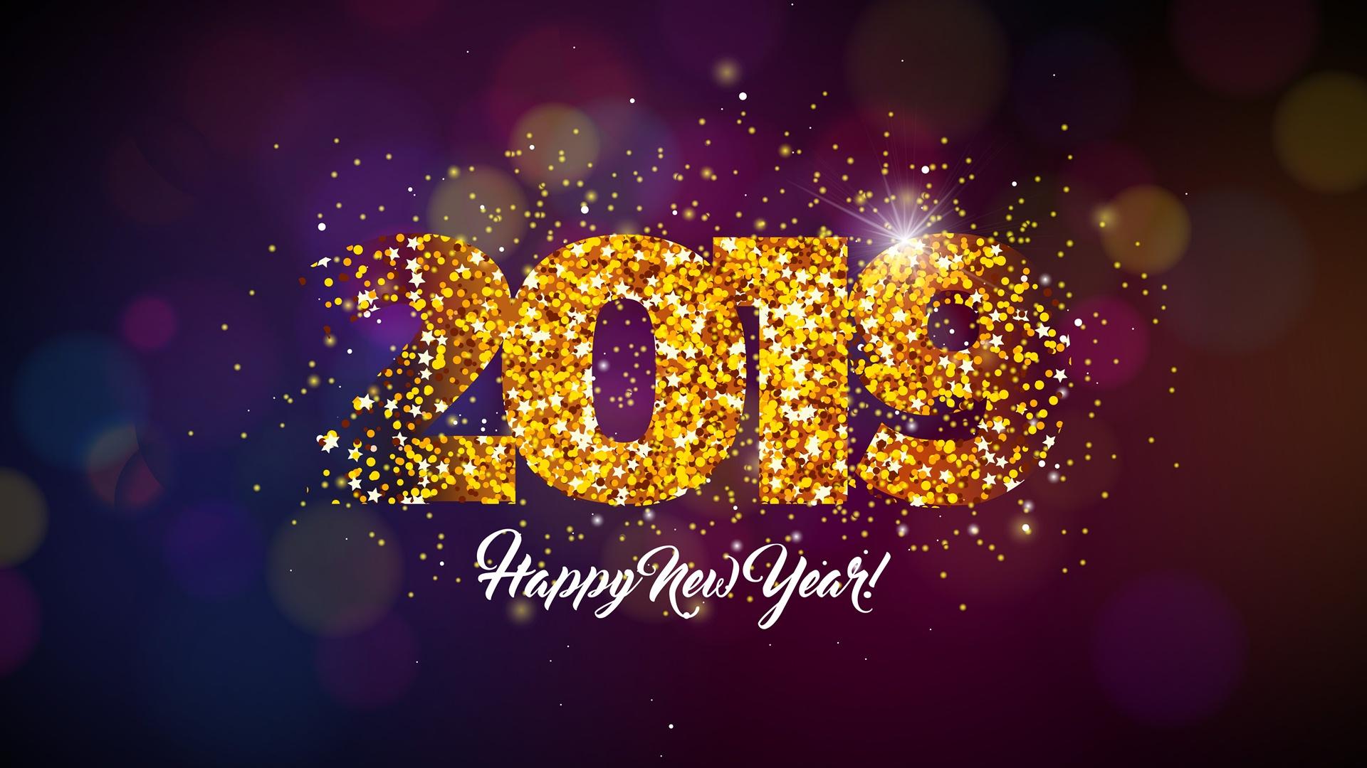 2019 Happy New Year Wallpaper Full HD