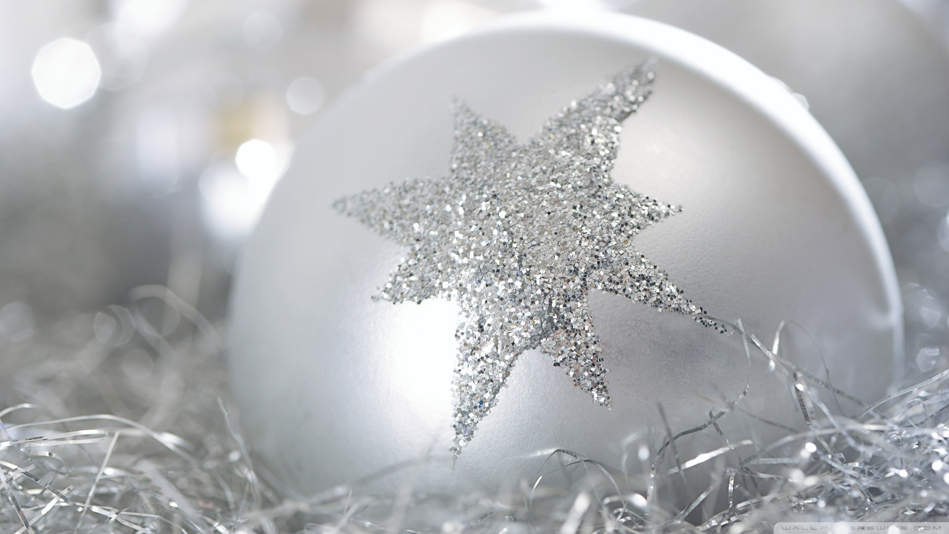 Christmas Wallpaper Silver