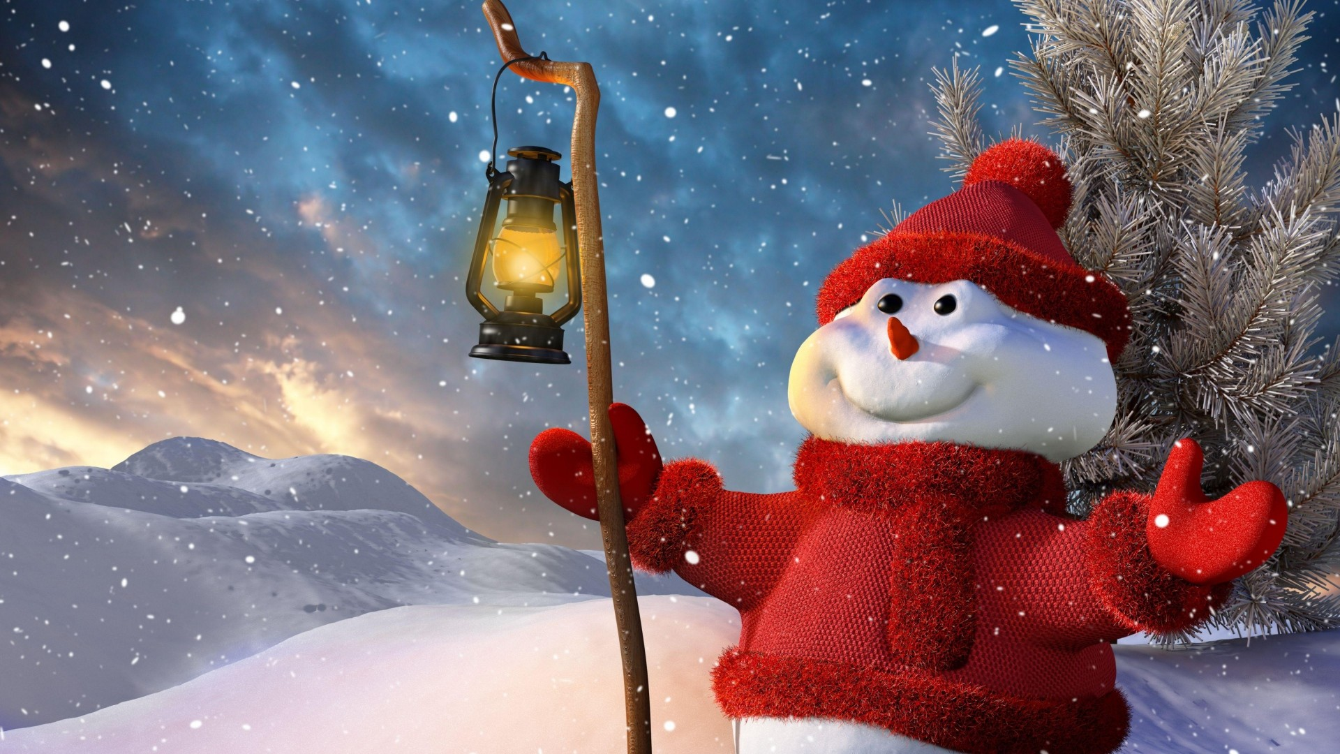 Christmas Wallpapers Snowman Cartoon