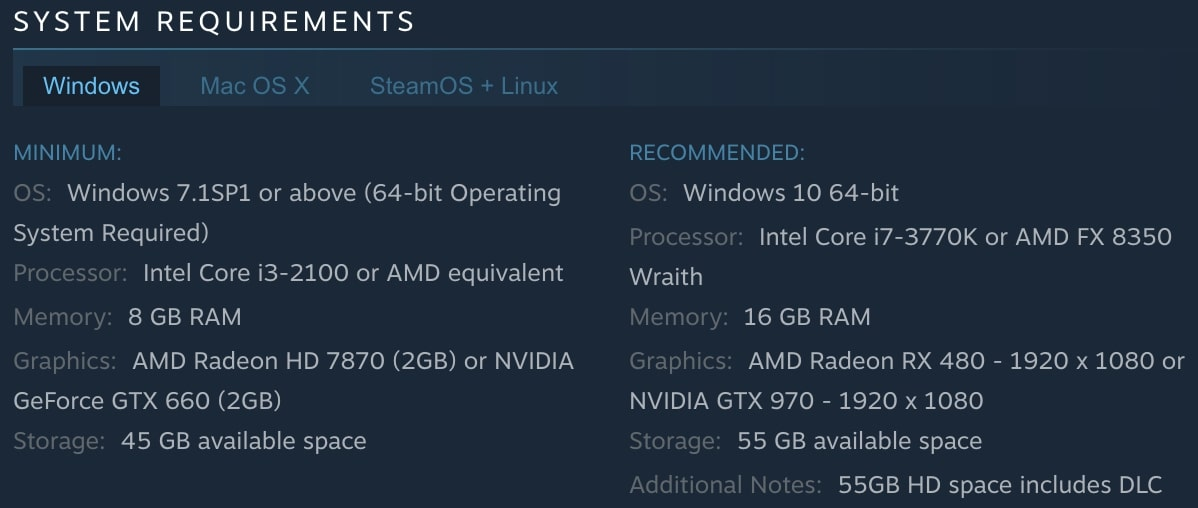 Deus Ex: Mankind Divided System Requirements | Steam