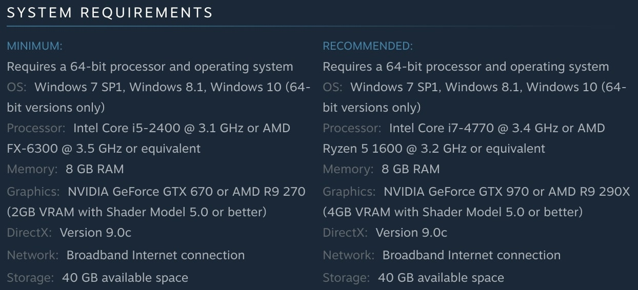 Far Cry 5 System Requirements | Steam