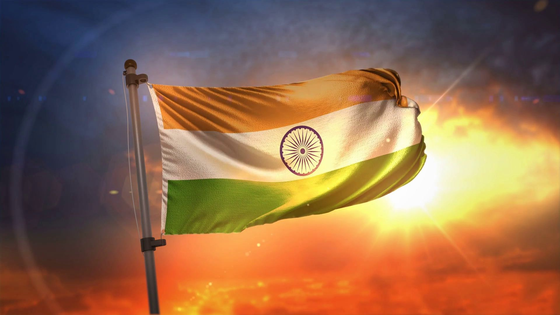Flag of India Full HD with Visual Effects