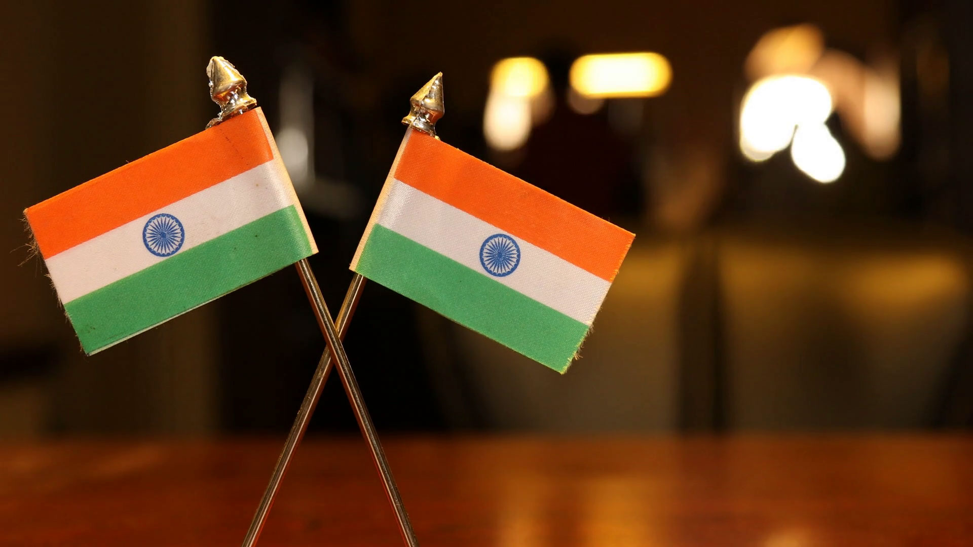 Indian Flag on the Office Table