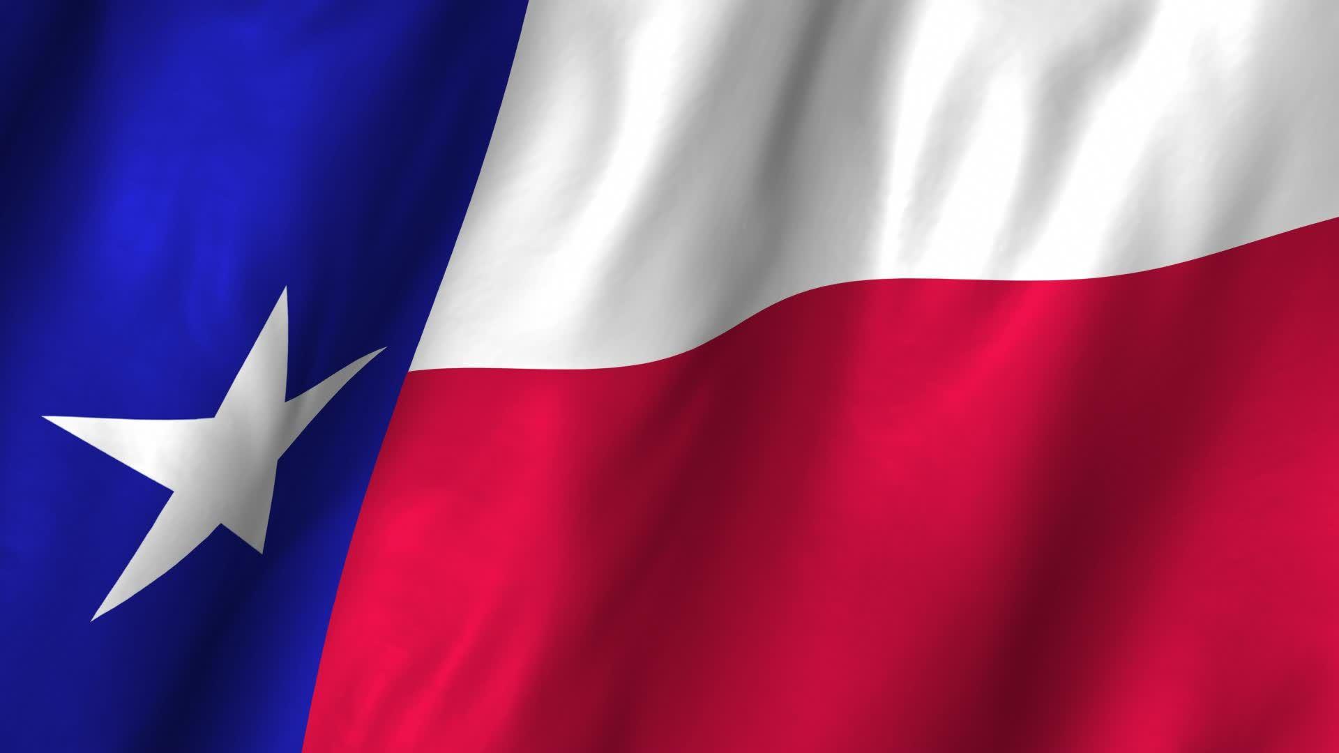 Texas Flag Waving Wallpaper