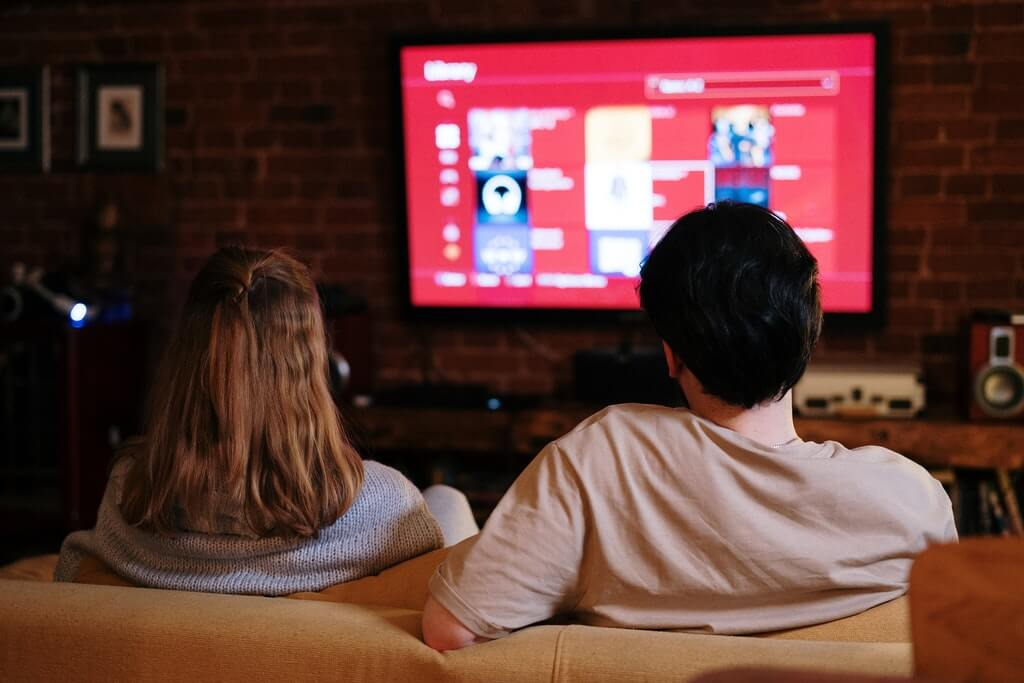 Image of a couple watching TV