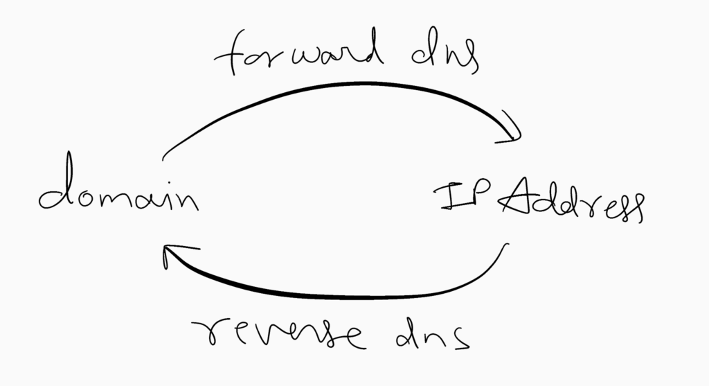 Representation of Forward and Reverse DNS