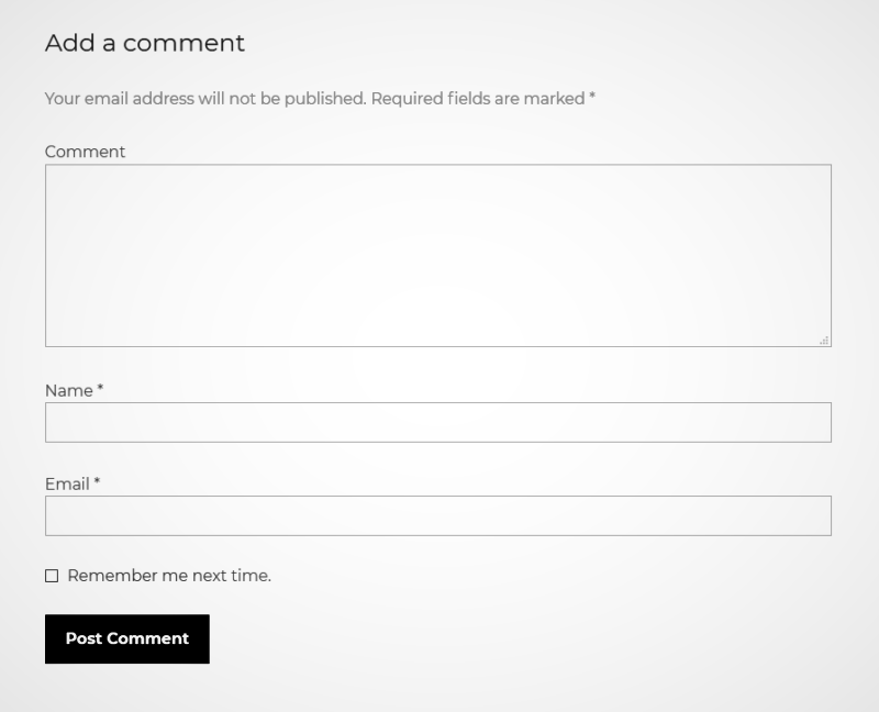 WordPress comment section