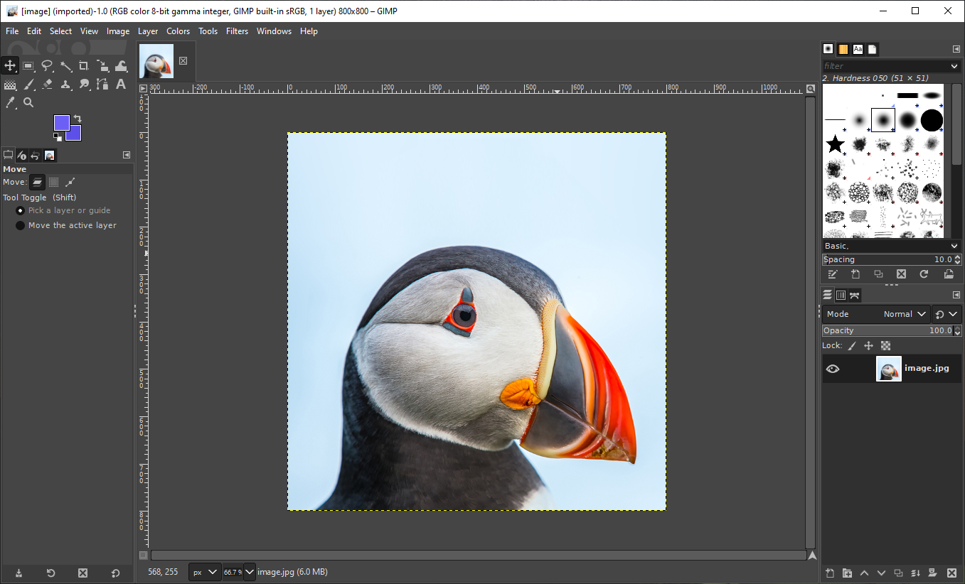Export image as WebP in GIMP